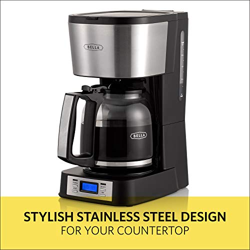 BELLA (14755) 12 Coffee Maker with Brew Strength Selector & Single Cup Feature, Stainless Steel - http://coolthings.us