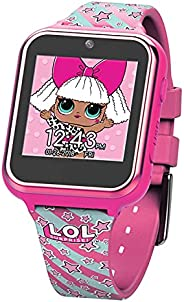 L.O.L. Surprise! Touch-Screen Smartwatch, Built in Selfie-Camera, Easy-to-Buckle Strap, Pink Smart Watch - Mod