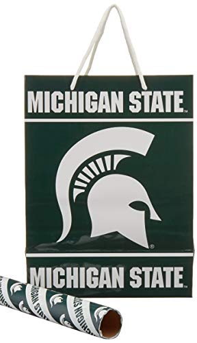 FOCO Michigan State Gift Bag/Gift Wrap 2 Pack by FOCO