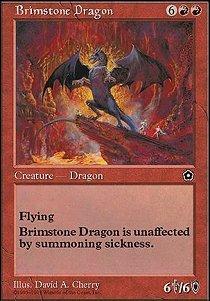 - Magic: the Gathering - Brimstone Dragon - Portal Second Age