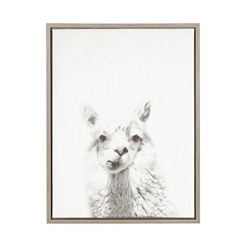 Kate and Laurel Sylvie Alpaca Framed Canvas by Simon Te, 18x24, -
