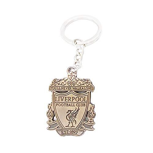 (Liverpool Keychain Soccer Team Football Club Logo Metal Pendant keyring Keychain team crest (Liverpool, 8.5CMX3CM))