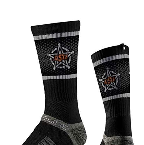NCAA Oklahoma State Cowboys Men's Socks, One Size, Black (Cowboys State Oklahoma Basketball)