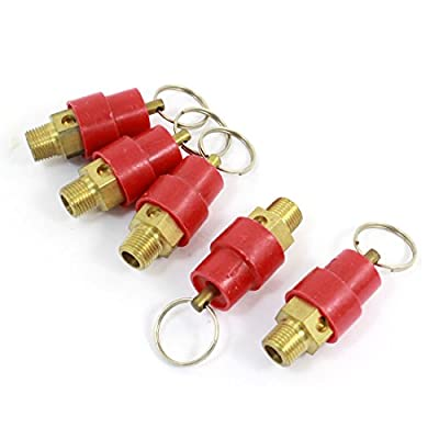 1/8 PT Male Thread Air Compressor Relief Valves 5 PCS by uxcell