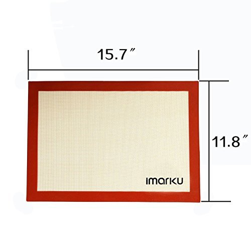 iMarku Silicone Baking Mat Set of 2 ,Non-Stick,Heat Resistant, Durable Silicon Liner for Bake Pans by iMarku (Image #1)'
