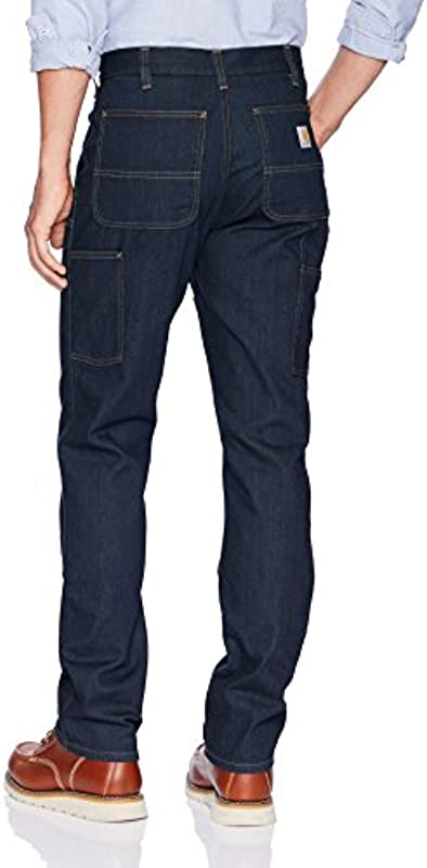 Dżinsy Carhartt Double Front Dungaree – wytrzymałe spodnie robocze, krÓj luźny: Auto