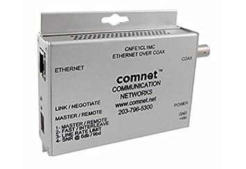 cnfe1cl1mc de m comnet, miniatura Conversor de medios 1 x Ethernet por cable coaxial o
