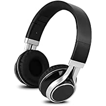 YHhao Over-Ear Headphones, On-Ear Headsets Noise Cancelling Foldable Headphones with Mic and 3.5mm Detachable Cord for iPhone, iPad, Android Smartphones, PC, Mac, Tablet, Computer, Laptop, Black