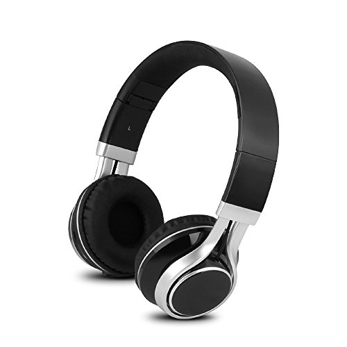 YHhao Over-Ear Headphones, On-Ear Headsets Noise Cancelling Foldable Headphones with Mic and 3.5mm Detachable Cord for iPhone, iPad, Android Smartphones, PC, Computer, Laptop, Mac, Tablet , (InkE16)
