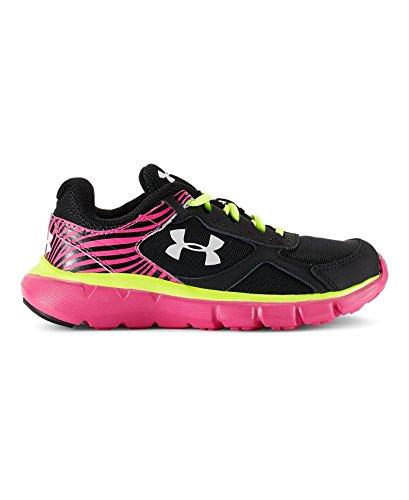 Under Armour Kids Girl's UA GPS Velocity RN (Little Kid) Black/Rebel Pink/White Sneaker 3 Little Kid M