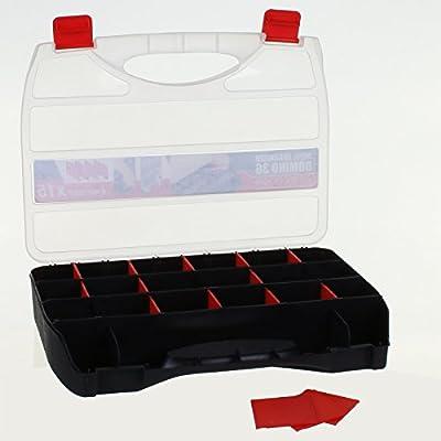 22 sección organizador caja de herramientas tornillos tuercas tornillos clavos de almacenamiento caso partes Caddy: Amazon.es: Bricolaje y herramientas