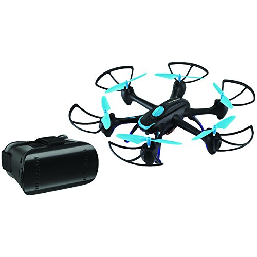 SKYRIDER DRW557BDLBU Night Hawk Hexacopter Drone with Wi-Fi(R) Camera