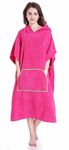 Winthome Changing Towel Robe, Surf Poncho (Pink) Short
