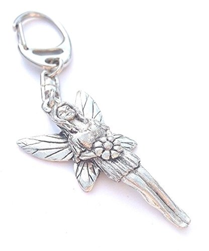 Solid Pewter Fairy Keychain