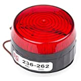 RS Pro 236262 Xenon Beacon Red Flashing Surface Mount 230 Vac