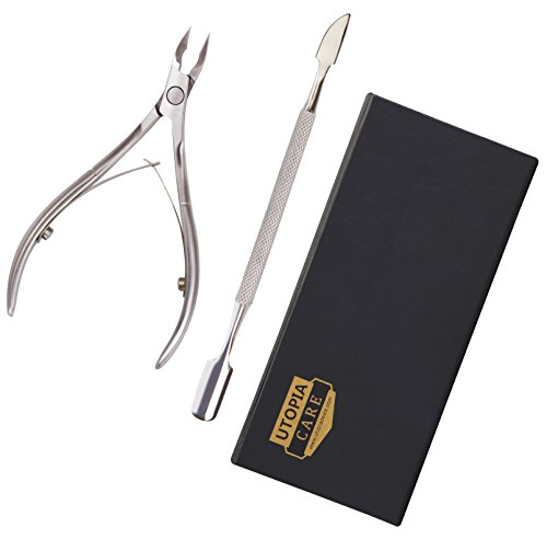 Cuticle Nipper Pusher Stainless Fingernails