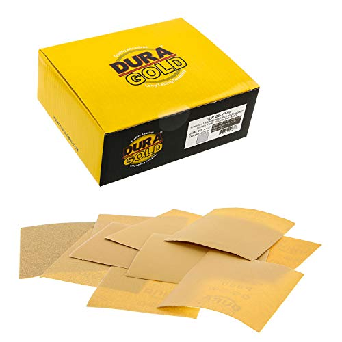 Dura-Gold - Premium - Variety Pack/Assortment (80,120,150,220,240,320,400,600,800,1000) - 1/4 Sheet Hook & Loop Sandpaper 5.5