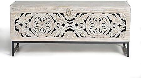 GINER Y COLOMER Baúles Decorativos - Baúl Madera Mango/Hierro (116x40x50)