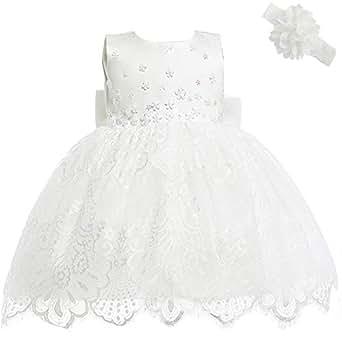 a107c279d1 AHAHA Vestidos de Boda de la Princesa del Bebé Bautizo Vestido de ...