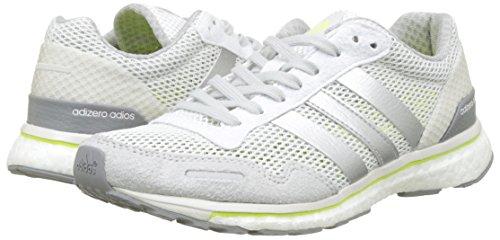 Adidas silver Entrainement White Femme Running De Yellow solar Blanc W Chaussures Metallic Adizero footwear Adios AqPrA