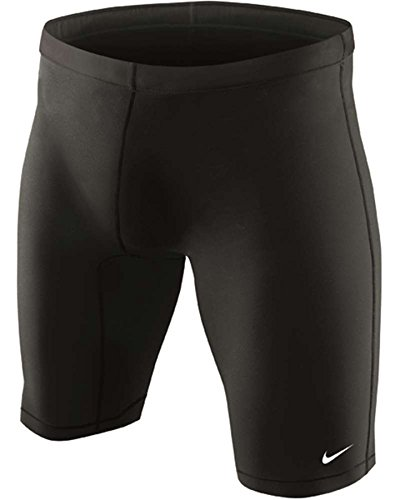Nike Swim TESS0051 Mens Nylon Core Solid Jammer, Black-32