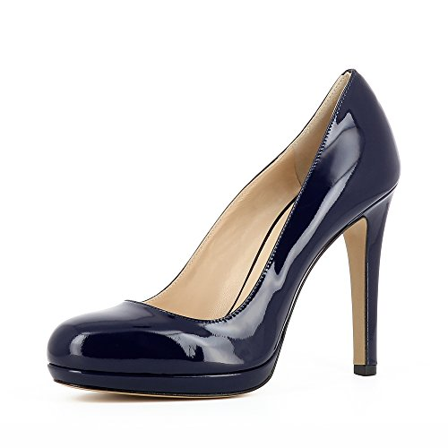Evita Shoes CRISTINA Damen Pumps Lack Dunkelblau