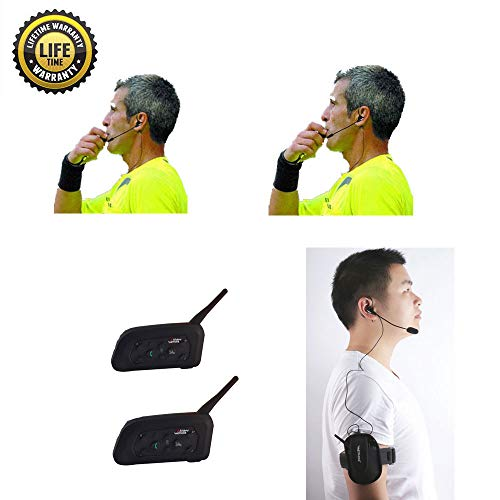 Referee Headset 2 Referees Full Duplex Football Wireless Headsets Wireless Football Headsets Headset Football Referee Communication ()