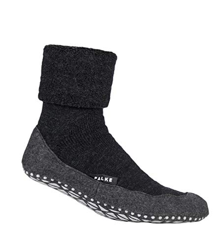 Mens 1 Pair Falke Cosyshoe Virgin Wool Home Socks Anthracite 45-46