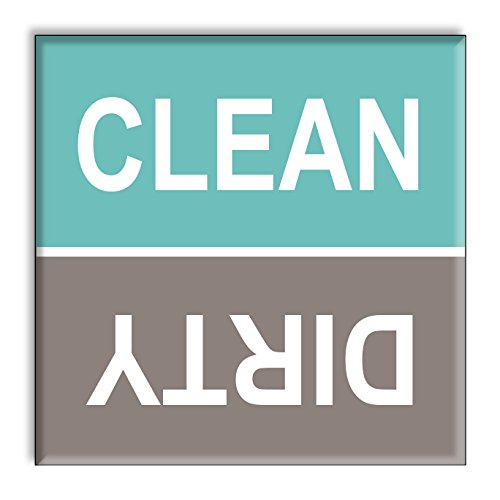 Clean Dirty Dishwasher Magnet Sign Indicator   Turquoise And Gray Beach  Colors Style