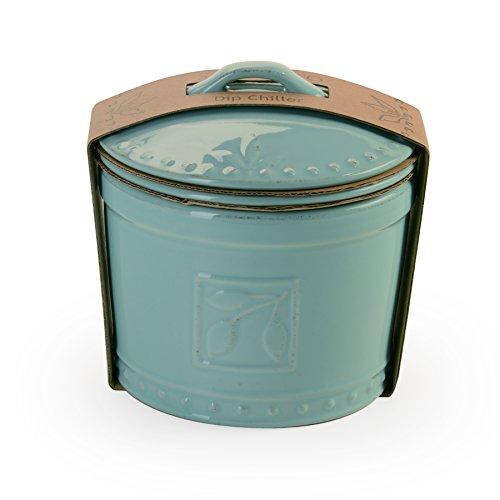 Signature Housewares Sorrento Collection 3 Piece Dip Chiller, Aqua ()