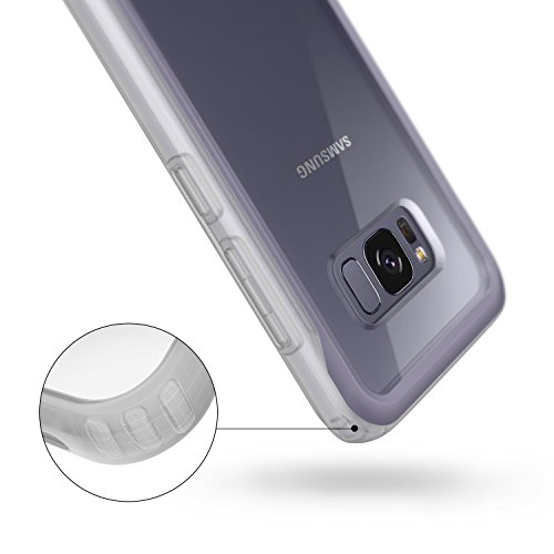 Galaxy S8 Case, Caseology [Coastline Series] Transparent Clear Slim Protective Scratch Resistant Air Space Technology Frosted Frame for Samsung Galaxy S8 (2017) - Orchid Gray
