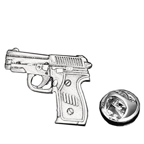 Procuffs Gun Ammo Weapon Firearm Pistol Lapel Pin Tack Tie