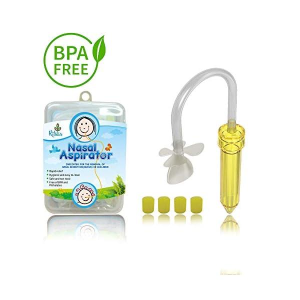 BPA Phthalate-Free Baby Nasal Aspirator Infant-Toddler Hygienic Snot Sucker