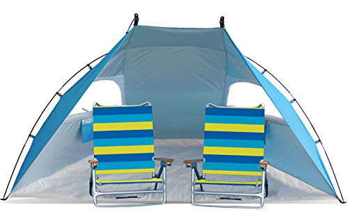 YATIO Easy Set Up Portable Sun Shelter Beach Tent Camping Shelter 9ft Wide Extra Roomy & UV Protection. Blue