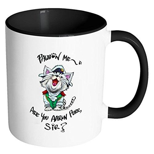 Hamilton Cat Mug - Cute Funny Aaron Purr Coffee Cup -