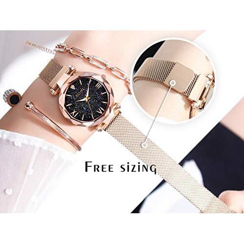 Jechin Fashion Women's Starry Sky Watch Magnetic Buckle Bracelet Dress Watches