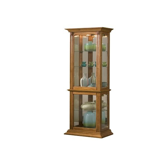 Pulaski Curio, 18 by 11 by 70-Inch, Medium Brown ()