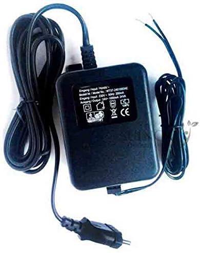 Transformador 220V - 24V AC 1,5 Amperios. Transformador eléctrico utilizado en programadores de riego. Corriente Alterna.