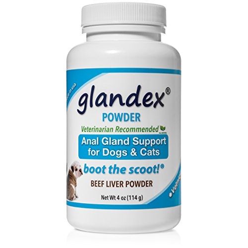 Glandex Dog & Cat Anal Gland Sac Powder With Fiber, Pumpkin, Digestive Enzymes & Probiotics – Anal Gland Supplement Vet Recommended Healthy Bowels & Digestion - Boot The Scoot 4.0oz Beef Liver Powde