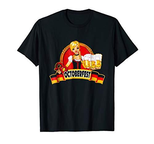 Oktoberfest German Beer Garden Girl Shirt -Men Women T Shirt