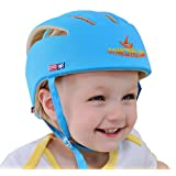 Ibepro® Infant Baby Toddler Safety Helmet Kids Head Protection Hat for Walking Crawling baby Children Infant Adjustable Safety Helmet Head guard Protective Harnesses Cap - (Blue)