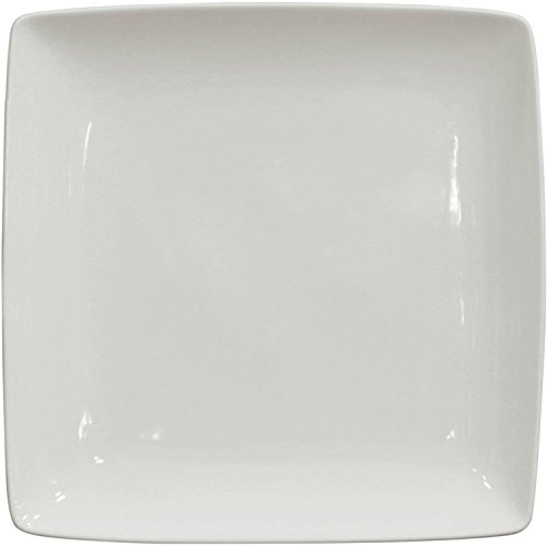 (Better Homes and Gardens Porcelain Coupe Square Dinner Plates, White, Set of 6)