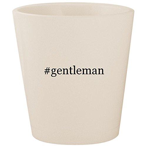 #gentleman - White Hashtag Ceramic 1.5oz Shot Glass -