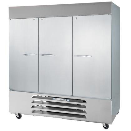 Beverage-Air FB72-1S 75'' Vista Series Three Section Solid Door Reach-In Freezer 72 cu.ft. Capacity Stainless Steel Front Robust Gray Painted Exterior Sides Aluminum Interior with B