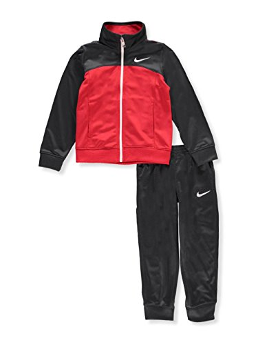 Nike Boys Anthracite and Red Zip-up Athletic Jacket and Pants Set