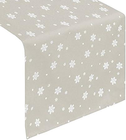 Mantel mantel Camino de mesa Navidad Plata Acero Beige costura ...