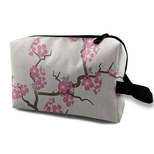 UIWHJRITG Pink Cherry Blossom Flower Women's Travel Cosmetic ()