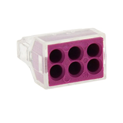 Generic 10 PCS 6 Pin Junction Box Push-in Wire Connector for