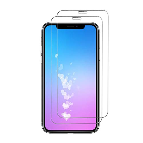 [2-Pack] iPhone Xs Max Screen Protector,ChefzBest Tempered Glass Screen Protector with [9H Hardness][Easy Bubble-Free Installation][Anti-Scratch] Compatible with iPhone Xs Max (Clear1)