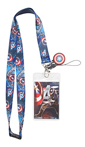 Marvel Avengers 2 Captain America Lanyard with Dangle